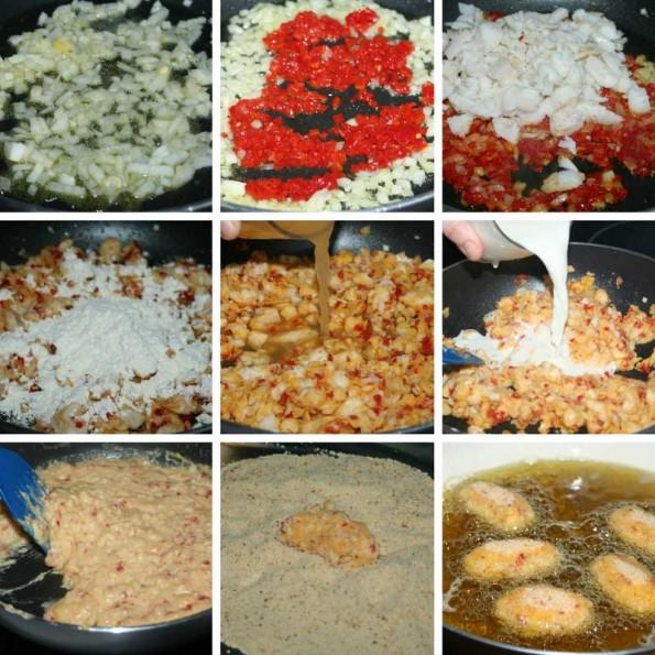 receta croquetas de pescado y pimientos del piquillo