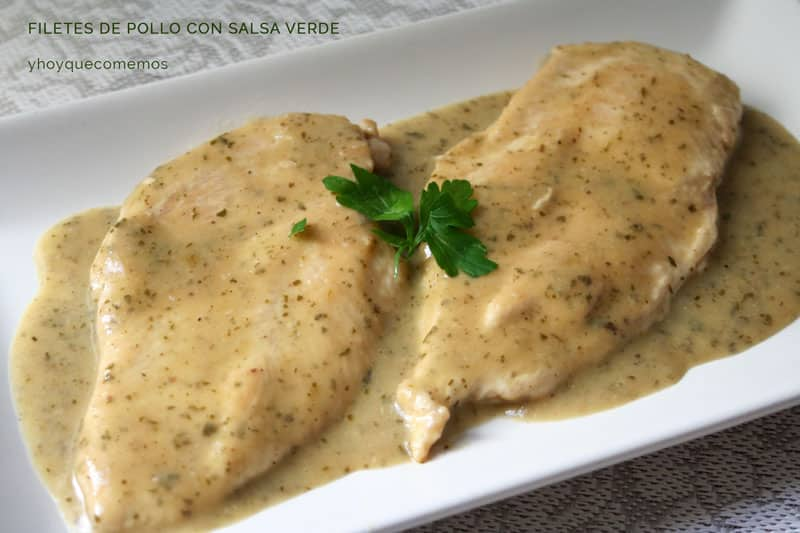 paso a paso filetes de pollo con salsa verde con perejil