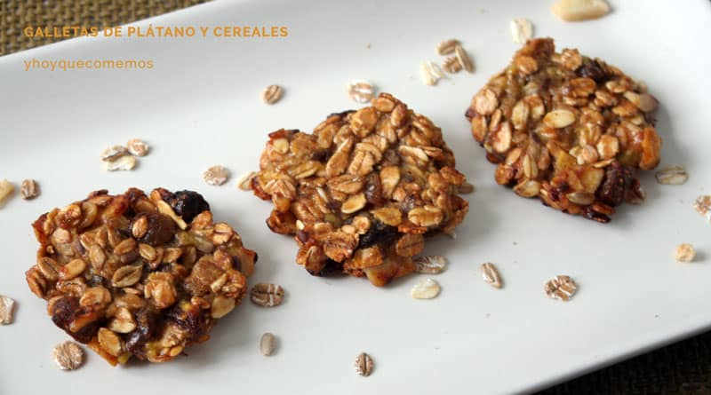 galletas de platano y cereales