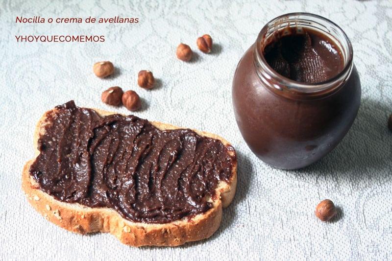 receta nocilla o crema de avellanas casera