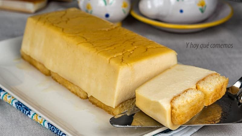 dulce de tarta de queso y sobaos (sin horno) facil