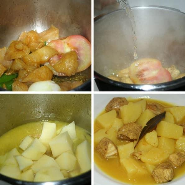 receta guiso de patatas con pinchitos