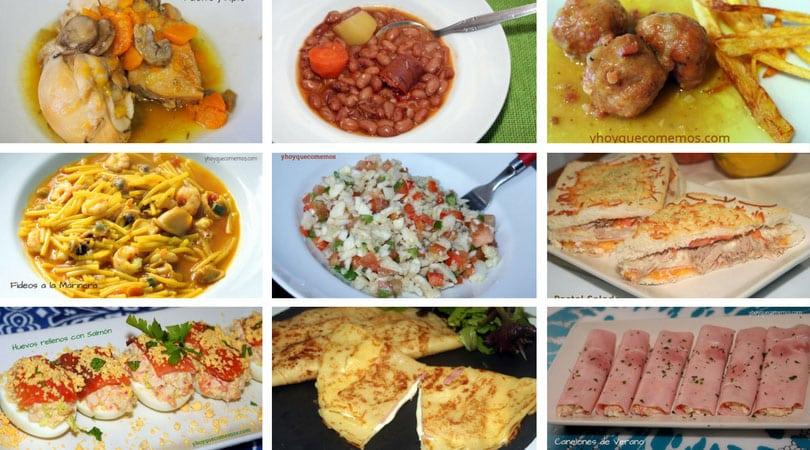 recetas de almuerzos y cenas