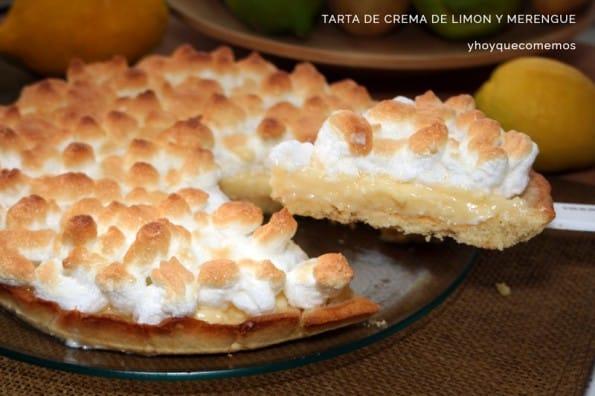 tarta de crema de limon y merengue