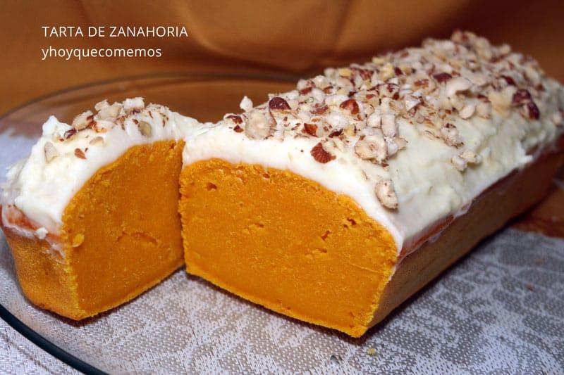 tarta de zanahorias y frosting de queso