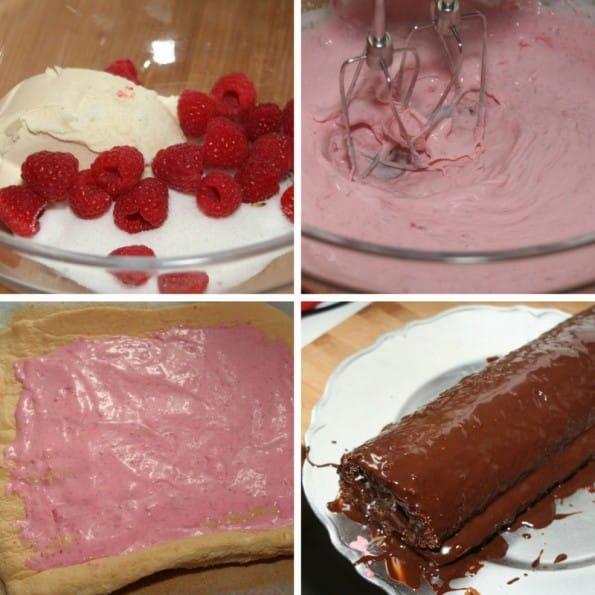 receta brazo gitano de frambuesas y chocolate