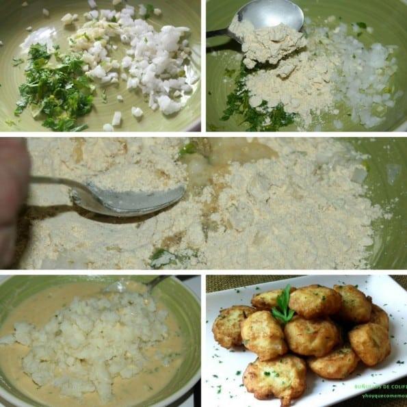 receta buñuelos de coliflor