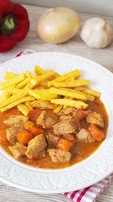 como se prepara la carne de cerdo en salsa de zanahoria