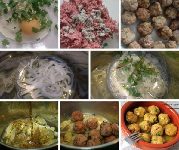 albondigas en salsa de cebolla receta