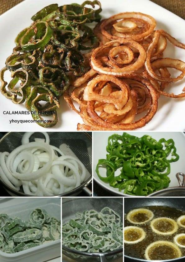calamares de huerta receta