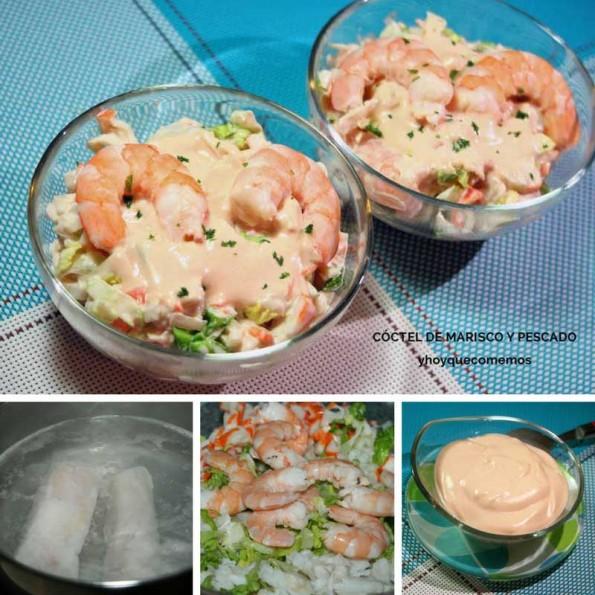 coctel de marisco y pescado receta