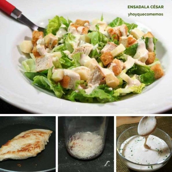 ensalada cesar receta