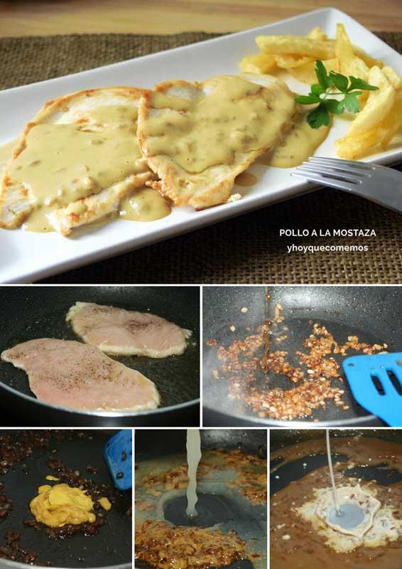 receta pollo a la mostaza