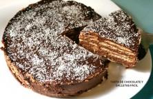tarta de chocolate y galletas facil