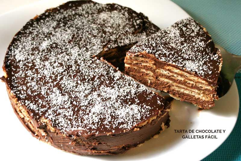 paso a paso tarta de chocolate y galletas facil
