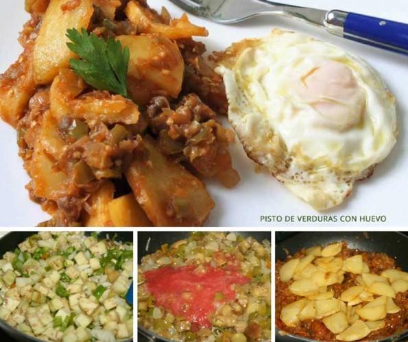 piste de verduras con huevo receta