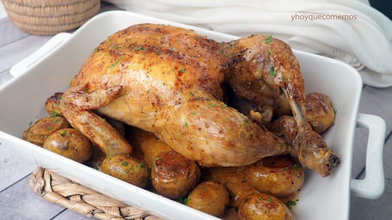 pollo entero al horno