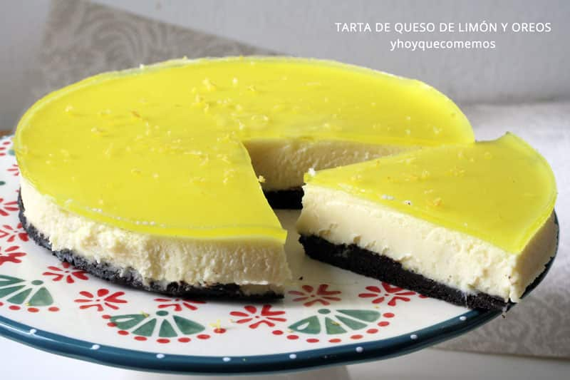 tarta de queso de limon y oreos