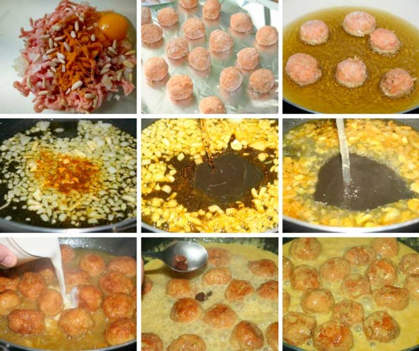 albondigas al curry receta