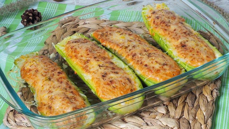 receta de calabacines rellenos de atun