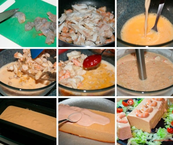 pastel de merluza y langostinos receta
