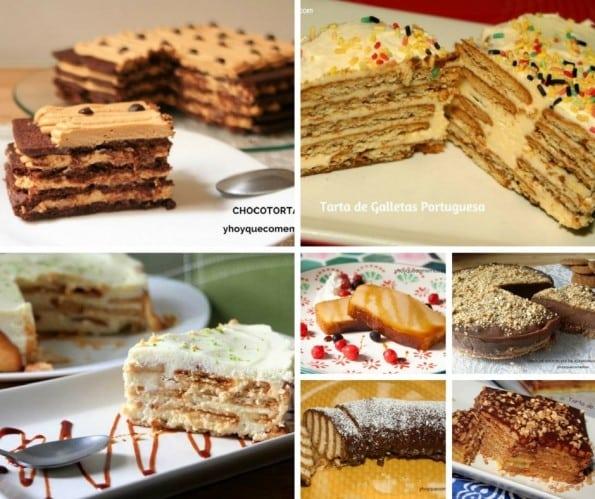 7 Recetas de tartas con galletas