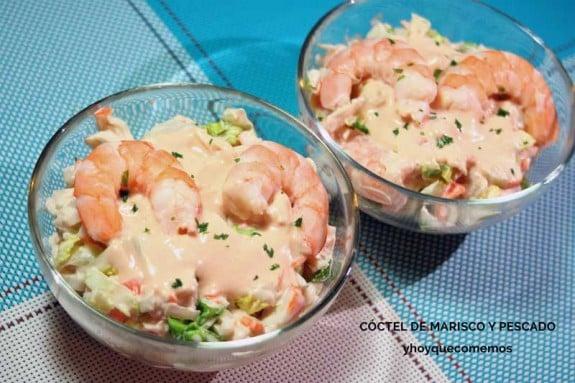 C ctel de marisco y pescado receta f cil de aperitivo y - Coctel de marisco ingredientes ...