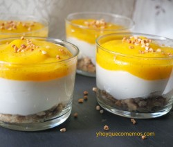 crema de yogur con mango