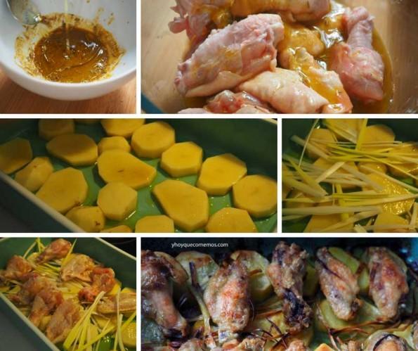alitas de pollo picantes al horno receta