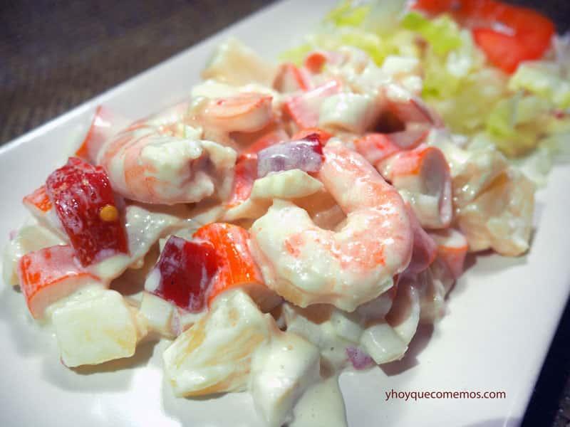 Ensaladilla de marisco facil recetas y postres y hoy - Aperitivos de mariscos ...
