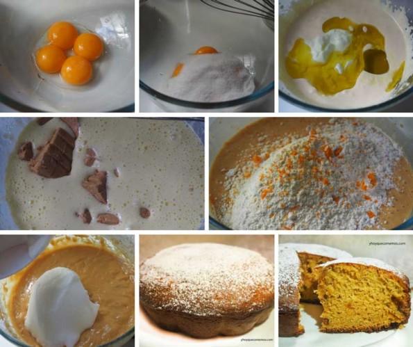receta bizcocho de turron