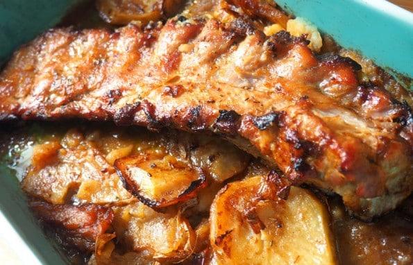 costillas de cerdo al horno receta