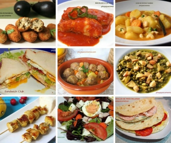 Menu Semanal Recetas Y Postres Y Hoy Qué Comemos