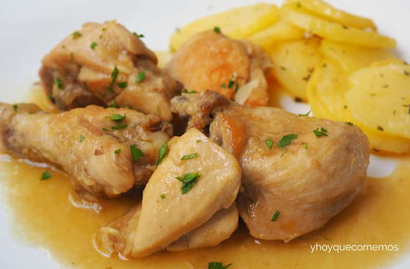 paso a paso Pollo en salsa fácil