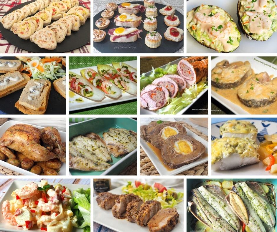 Ideas de entrantes y platos para navidad
