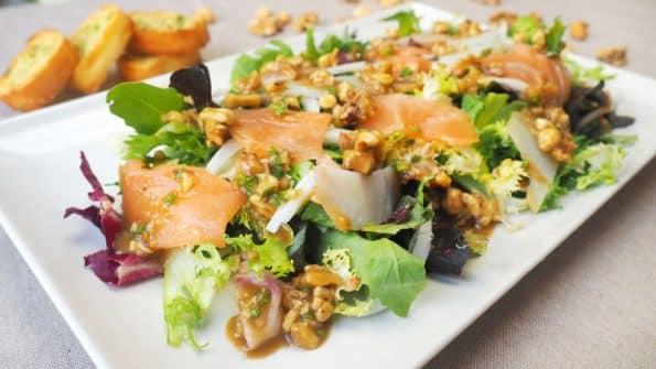 como hacer ensalada de ahumados con vinagreta saludable