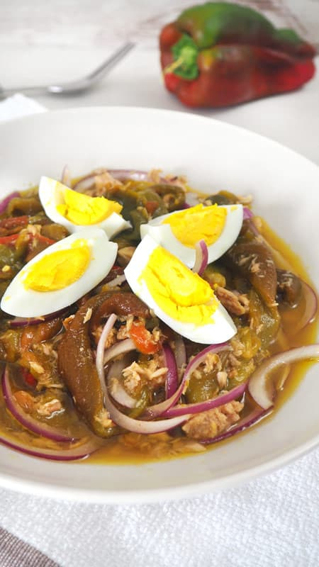 ensalada de pimientos asados receta rica y saludable