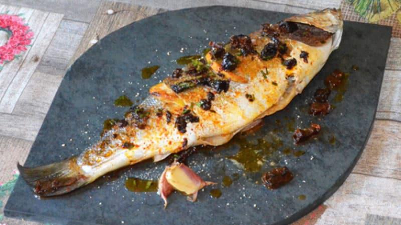 pescado lubina al horno