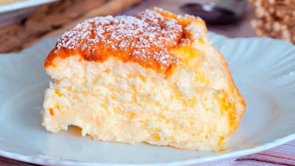 receta pastel de yogur o tarta de yogur suave y esponjosa