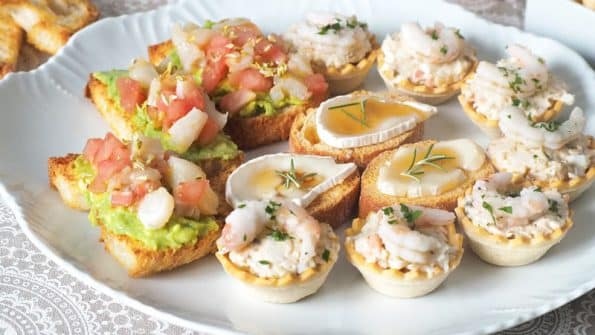 recetas de 3 ideas Canapés Rápidos y Fáciles entrantes y aperitivos