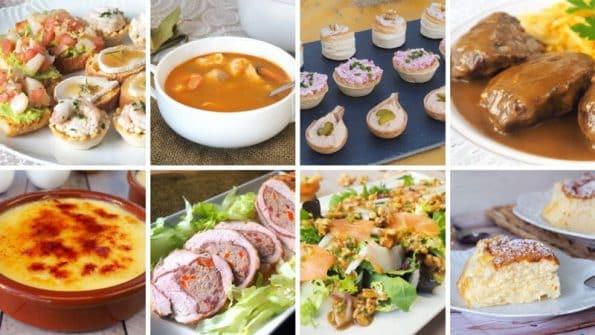 Ideas de aperitivos, platos y postres para Navidad
