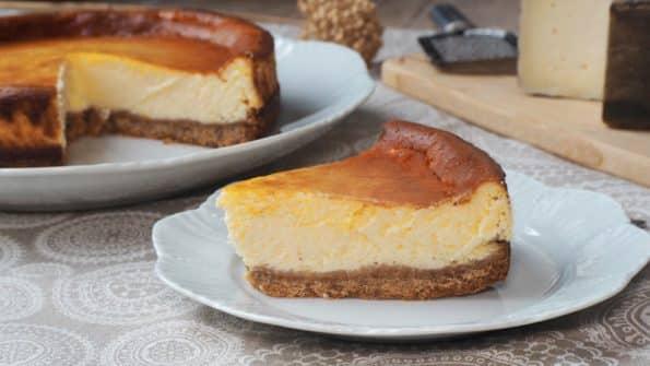 como se hace la cheesecake de queso de cabra al horno