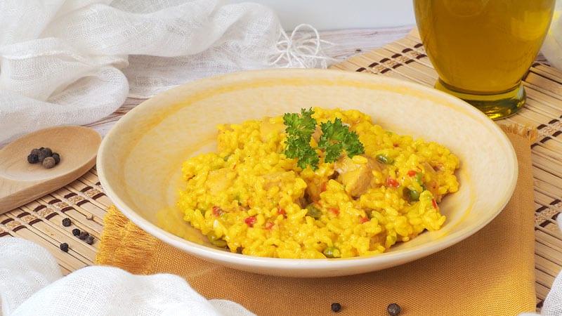 preparar Arroz con pollo en Mycook receta facil