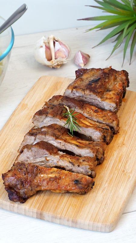costillas de cerdo al horno carne facil