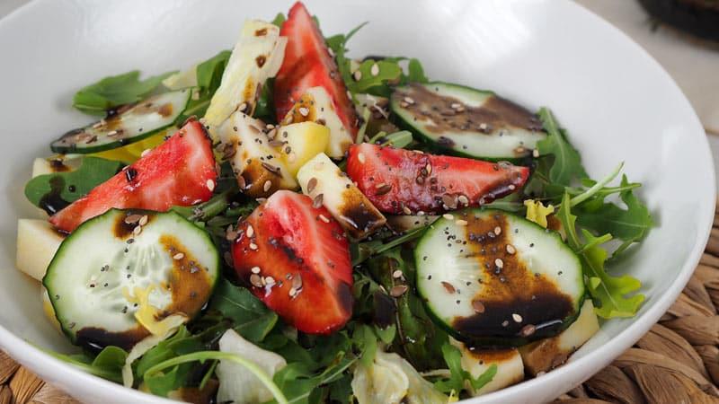 algunas ideas de recetas de Ensaladas con Frutas y Verduras de temporada