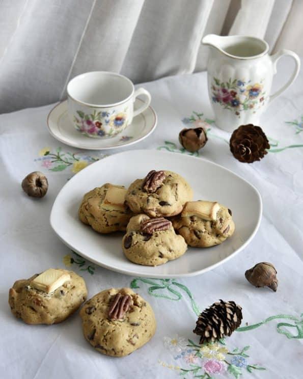 como hacer galletas con chips de chocolate y nueces pecanas