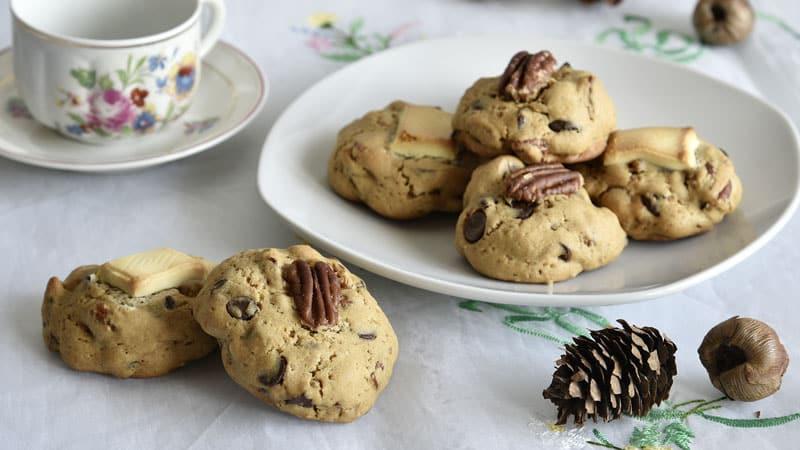 deliciosas galletas con chips de chocolate y nueces pecanas receta paso a paso