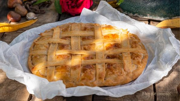 empanada de morcilla manzana y piñones receta