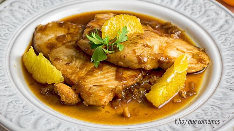 receta de pescado Filetes de marrajo con salsa de vino