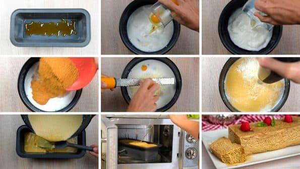 paso a paso flan de queso al microondas